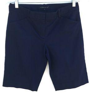 Theory Navy Blue Bermuda Capri Pants Shorts